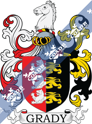 Grady Family Crest, Coat of Arms and Name History